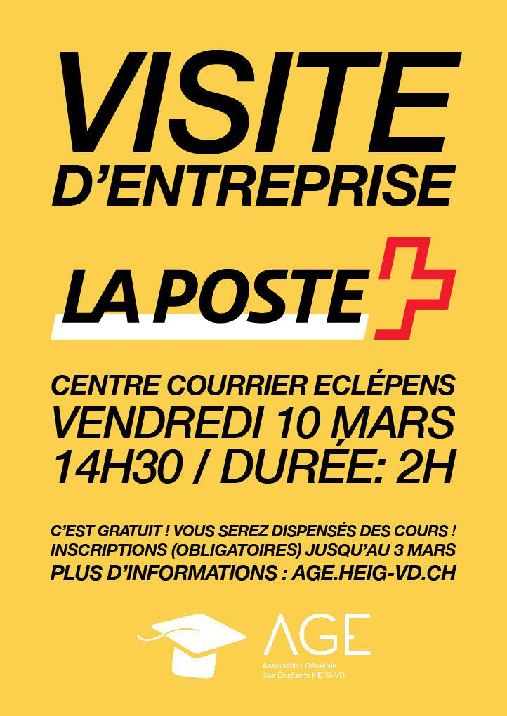 Visite du centre courrier de la poste age etudiants heig vd - La poste renvoi courrier demenagement ...